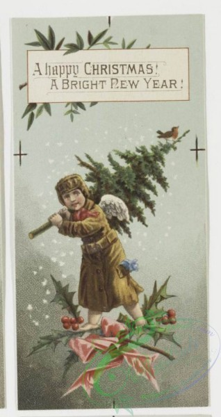angels-00065 - 4-Christmas and New Year cards depicting cherubs and angels. .106284 [532x1001]