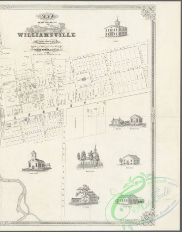 antique_maps-01402 - Map of the village of Williamsville in Erie County, N.Y