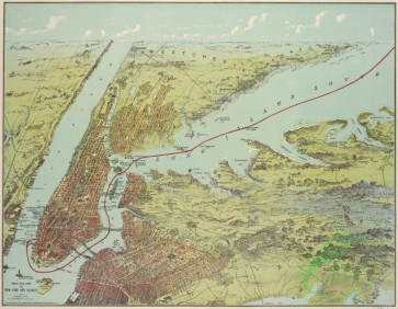 antique_maps-03189 - 2996-Birds eye view of New York and vicinity