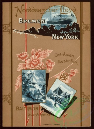 menu-01001 - 00927-Flowers, Postcards, Botanical, Buildings, Steamship