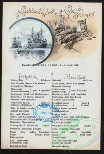 menu-01015 - 00904-Steamships, Lobster, Table with food