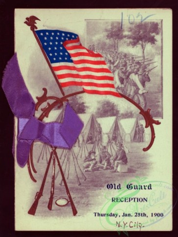menu-01159 - 01097-USA flag, Historical, Camp