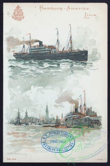 menu-01215 - 01138-Steamships, sea, harbor