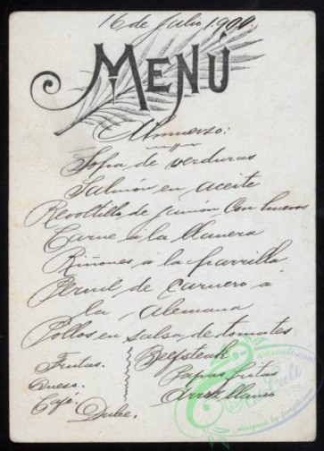menu-01508 - 01456-Menu text decorated, handwritten text