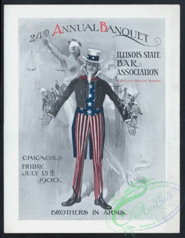 menu-01588 - 01447-Uncle Sam, Woman with libra, Historical, Soldiers