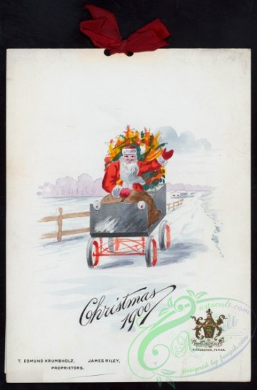 menu-01733 - 01658-Christmas, Santa Claus, carriage