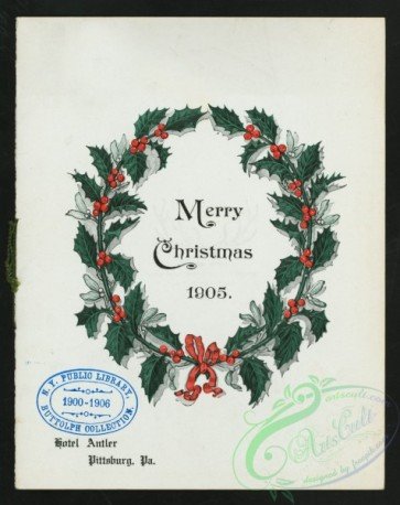 menu-02267 - 02192-Holly Wreath, merry christmas