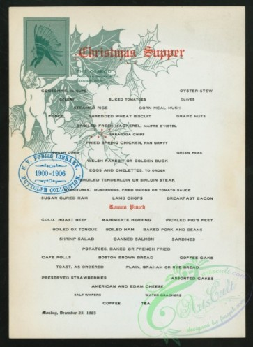 menu-02268 - 02193-Cristmas, Holly leaves