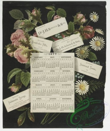 prang_calendars-00004 - 0034-Calendars from 1877 and 1878, depicting flowers and angels 105210