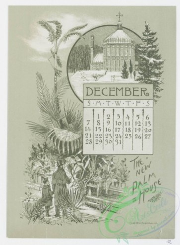 prang_calendars-00034 - 0966-Baltimore Calendar-July, Washington Monument, Barye Lion, August, Eutaw Place, Some Old Houses, Corner of German and Liberty Streets, September, F 108423