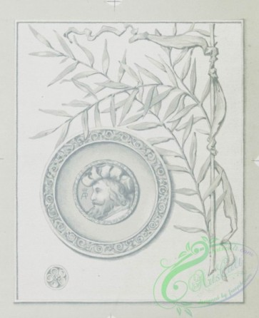 prang_cards_black-and-white-00141 - 0393-Easter and Christmas cards depicting people, flowers, knights on horses, hearts and decorative designs and patterns 105505