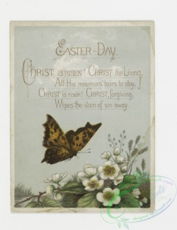 prang_cards_butterflies-00001 - 0131-Easter cards with decorative ornamentation, depicting flowers, butterflies and eggs 101218