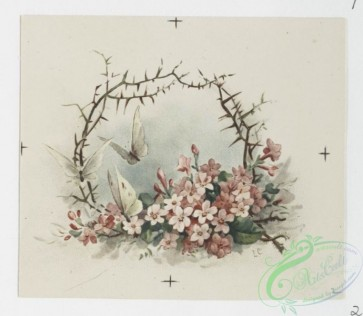prang_cards_butterflies-00038 - 0721-Valentines and Easter cards depicting flower garlands, cupids, butterflies, women, and love letter 107491