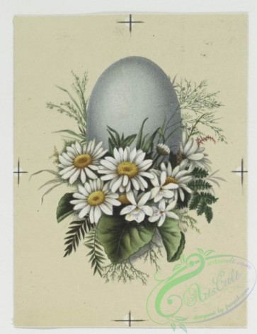 prang_cards_holidays-00090 - 0268-Birthday and Easter cards depicting flowers, eggs, decorative designs, and a vase 104459