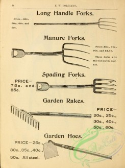 agricultural_implements-00001 - black-and-white Forks, Garden Rakes, Garden Hoes