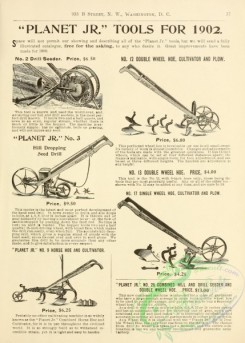 agricultural_implements-00004 - black-and-white Cultivator and plow, Seed Drill