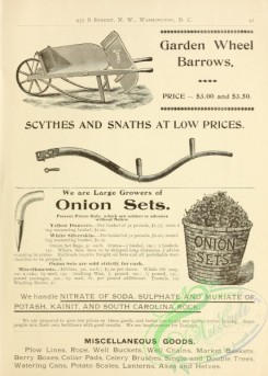 agricultural_implements-00005 - black-and-white Garden Wheel Barrow
