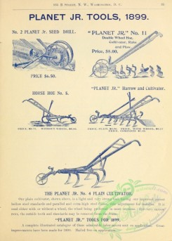 agricultural_implements-00015 - black-and-white Seed Drill, Harrow and Cultivator