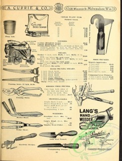 agricultural_implements-00020 - black-and-white Trowel, Shear, Weeder, Saws, Seed Sower