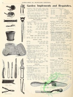 agricultural_implements-00022 - black-and-white Knife, Trowel, Shears, Flowr pot, Saws