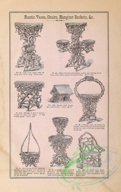 agricultural_implements-00042 - black-and-white Rustic Vases, Chairs, Hanging Baskets