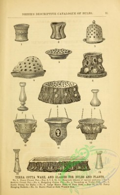 agricultural_implements-00044 - black-and-white Terra Cotta Ware, Glasses for bulbs and plants