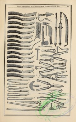 agricultural_implements-00054 - black-and-white Implements, knives, pump, scissors