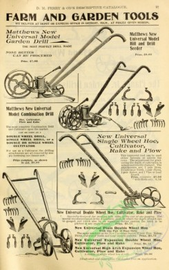 agricultural_implements-00064 - black-and-white Garden Driil, Seeder, Plow, Rake