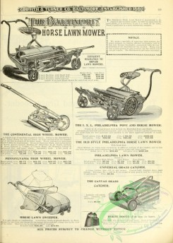 agricultural_implements-00079 - black-and-white Lawn Mower, 2