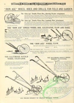 agricultural_implements-00081 - black-and-white Plow, Rake, Cultivator