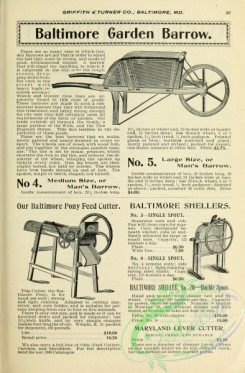 agricultural_implements-00095 - black-and-white Garden Barrow, Feed Cutter, Sheller