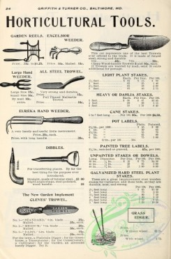 agricultural_implements-00099 - black-and-white Weeder, Reel, Trowel, Dibbles