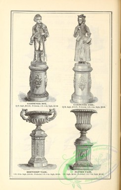 agricultural_implements-00129 - black-and-white Statue, Stone Vases stand