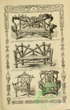 agricultural_implements-00134 - black-and-white Rustic Chair, Bench