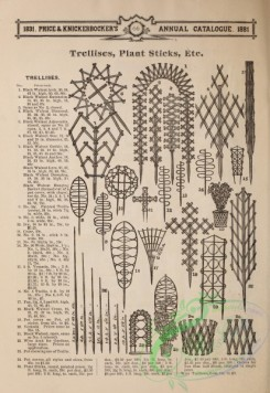 agricultural_implements-00144 - black-and-white Trellieses, Plant Sticks