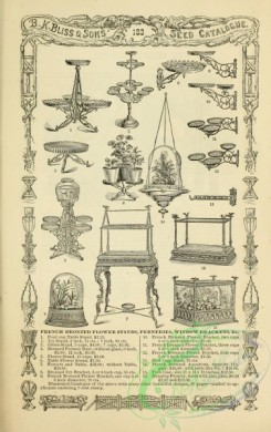 agricultural_implements-00149 - black-and-white French Bronzed Flower stands, ferneries, window brackets