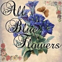 all blue flowers