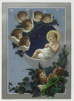 angels-00028 - 168-Christmas and New Year cards depicting flowers, crosses, butterflies, angels, birds, snow, and decorative plant forms.103103 [1044x1423]