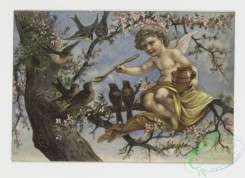angels-00041 - 230-Birthday cards depicting angels in trees with birds and fruit.104175 [1369x997]
