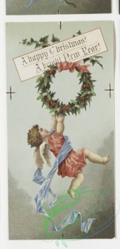 angels-00066 - 4-Christmas and New Year cards depicting cherubs and angels. .106285 [518x1076]