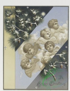 angels-00089 - 430-Christmas cards depicting angels, holly, a dance hall, a church bell and the moon.105771 [1161x1506]