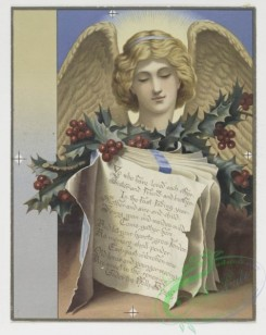 angels-00090 - 430-Christmas cards depicting angels, holly, a dance hall, a church bell and the moon.105772 [1182x1485]