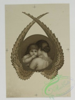 angels-00098 - 515-Christmas and New Year cards depicting children, angel wings, berries, and flowers.106370 [1301x1722]