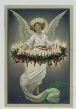 angels-00102 - 551-Christmas cards depicting angels lighting candles, botanical ornamentation.106599 [1204x1720]