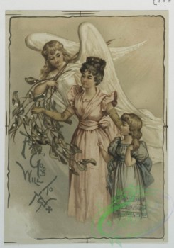 angels-00105 - 595-Christmas and New Year cards depicting rural landscapes, mothers with daughters, an angel.106863 [1375x1960]