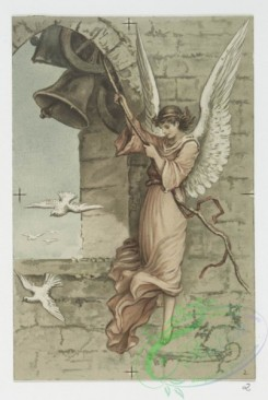 angels-00107 - 609-Easter cards depicting angels, a bell tower, flowers, butterflies, clovers, birds and decorative ornamentation.106931 [1067x1590]