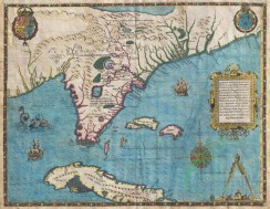 antique_maps-00238 - 1591_De_Bry_and_Le_Moyne_Map_of_Florida_and_Cuba - Geographicus - Florida-debry-1591 [4500x3480]