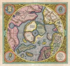 antique_maps-00245 - 1606_Mercator_Hondius_Map_of_the_Arctic_(First_Map_of_the_North_Pole) - Geographicus - NorthPole-mercator-1606 [3500x3290]