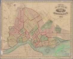 antique_maps-01225 - Map of the city of Brooklyn, for William G. Bishop's Manual