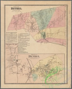 antique_maps-01952 - Town of Bethel, Fairfield Co., Conn